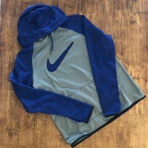 Blue and grey Nike thermafit sweatshirt